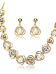cheap -Women's Jewelry Set Bridal Jewelry Sets Cut Out Precious Fashion Imitation Pearl Gold Plated Earrings Jewelry Rainbow For Christmas Wedding Halloween Party Evening Gift 1 set