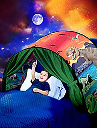 cheap -Play Tent & Tunnel Playhouse Teepee Dream Bed Tent Dinosaur Unicorn Space Adventure Foldable Convenient Polyester Gift Indoor Outdoor Party Favor Festival Fall Spring Summer 3 years+ Boys and Girls