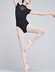 cheap -Ballet Leotard / Onesie Lace Solid Women's Training Performance Cap Sleeve Natural Milk Fiber