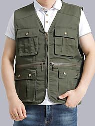 cheap -e-scenery fashion leopard vest coats women hooded sleeveless pockets warm plush tops brown