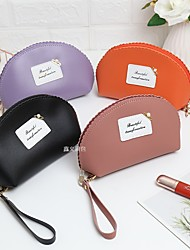 cheap -Women's Bags Polyester Cosmetic Bag Solid Color Daily Handbags Black Purple Blushing Pink Orange