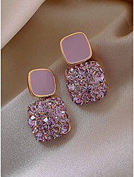 cheap -Women's Stud Earrings Earrings Geometrical Elegant Fashion Imitation Diamond Earrings Jewelry Purple For Gift Prom Date Vacation 1 Pair