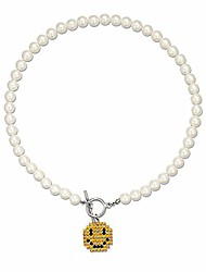 cheap -pearl pendant necklace for women,y2k fashion pearls strand for egirl eboy,dainty cute smiley toggle necklace jewelry for women girls