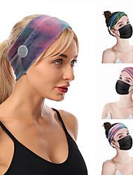 cheap -3 pcs Amazon Creative New tie-dye Fabric Headband Anti-Leaf Ladies Sports Color Wash Face Narrow Headgear Headband