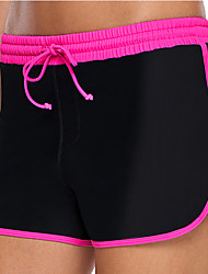 cheap -Women's Beach Bottom Swimsuit Drawstring Solid Color Fuchsia Swimwear Bathing Suits Fashion