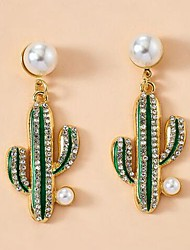 cheap -Women's Stud Earrings Cute Imitation Pearl Earrings Jewelry Green For Date Festival 1 Pair