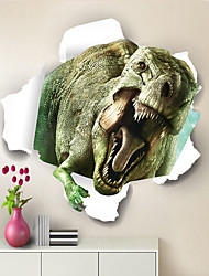 cheap -Stereoscopic Through The Wall Dinosaur Children's Room Bedroom Background Ball Sticker Trade Wholesale Stickers Murals 50x50cm