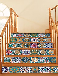 cheap -Holiday / Mandala Wall Stickers Living Room / Stair, Removable Vinyl Home Decoration Wall Decal 6pcs