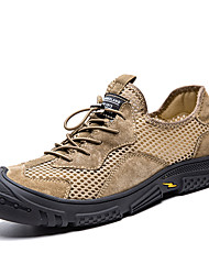 cheap -Men's Sandals Crochet Leather Shoes Hand Stitching Sporty Casual Beach Daily Outdoor Walking Shoes Trail Running Shoes Nappa Leather Cowhide Breathable Handmade Non-slipping Booties / Ankle Boots