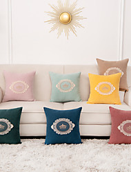 cheap -1 Pc Solid Colored Cushion Cover 45x45cm Linen for Sofa Bedroom