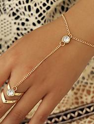 cheap -Women's Vintage Bracelet Ring Bracelet / Slave bracelet Bracelet Vintage Style Fashion Simple Fashion Vintage Classic Alloy Bracelet Jewelry Gold For Anniversary Gift Date Birthday Festival