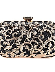 cheap -crystal bird purse bling out clutch evening bags and clutches for women-black