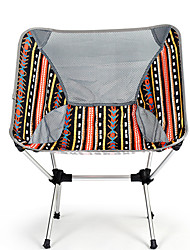 cheap -Camping Chair with Side Pocket Multifunctional Portable Breathable Ultra Light (UL) Aluminum Alloy for 1 person Fishing Beach Camping Autumn / Fall Winter Black Yellow