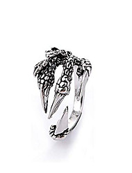 cheap -vintage men's eagle claw punk hip hop ring fashion adjustable opening goth claw ring jewelry