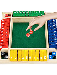 cheap -Shut The Box dice Game Board Games Family Game Wooden Board Pub Bar Board Dice Game Math Game for Kids Adults Includes Eight Dices