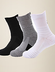 cheap -LITB Basic Men's Breathable Sports Calf Socks Terry-loop Hosiery Anti-slip Running Sock One-Size EU 39-45 For Male