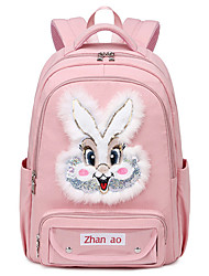 cheap -Women's Men's Nylon School Bag Adjustable Large Capacity Pattern Solid Color Animal School Daily Backpack Black Blue Blushing Pink Army Green Dusty Rose