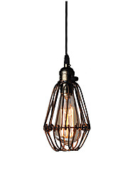 cheap -12 cm Single Design Pendant Light Metal Painted Finishes Vintage Nordic Style 110-120V 220-240V