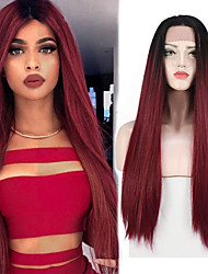 cheap -Straight Lace Front Wigs Long Straight Synthetic Wig for Women Japanese Heat resistant FIBER 26 Inch