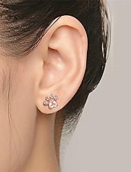 cheap -Men's Stud Earrings Fancy Cat Stylish Sweet Earrings Jewelry Rose Gold / Silver For Birthday Gift Festival 1 Pair