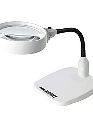 cheap -Magnifier Magnifying Glass Set Desktop Hands free with Lighting Function Illuminated LED 8 Reading Inspection Macular Degeneration ABS+PC Kid's Adults' Seniors