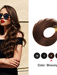 cheap -Straight Keratin Capsules Human Fusion Hair Nail U Tip Remy Pre Bonded Hair Extension 16-24 Inch 50g For Women