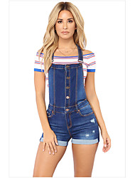 cheap -2020 spring amazon europe and the united states ripped hip suspenders curled jeans wish shorts manufacturers spot sales