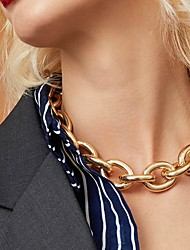 cheap -Women's Chains Necklace Fashion Alloy Golden 41+10 cm Necklace Jewelry 1pc For Party Evening Street
