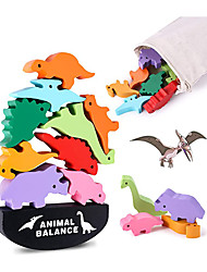 cheap -Stacking Dinosaur Toys for Kids Wooden Balance Blocks for Pre-Schoolers Learning Fine Motor Skills Best Christmas and Birthday Gifts for Children Toys for 4 5 6 7 Year Boys Girls
