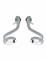 cheap -cute snake cubic zirconia cuff wraps crawler climber studs earrings for women girls dainty cartilage cz piercing jewelry one pair