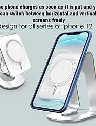 cheap -Phone Holder Stand Mount Desk Cell Phone Stand with Adapter Phone Desk Stand Gravity Type Silicone Aluminum Alloy Phone Accessory iPhone 12 11 Pro Xs Xs Max Xr X 8 Samsung Glaxy S21 S20 Note20