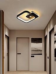 cheap -23 cm Mini Ceiling Light Porch Light Corridor Lamp Square Shape Black Gold White Geometric Shapes Flush Mount Lights Aluminium Alloy Artistic Style Modern Style Painted Finishes LED Modern 220-240V