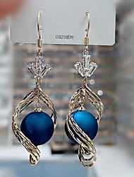 cheap -Women's Drop Earrings Dangle Earrings Pear Cut Stylish Classic Imitation Pearl Earrings Jewelry Blue / White / Red For Date