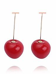cheap -jojos bizarre adventure cute cherry drop earrings anime dangle earrings for women jean pierre polnareff earring cosplay accessories