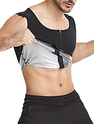 cheap -Hot Sweat Workout Tank Top Slimming Vest Sauna Suit Sports Neoprene Yoga Fitness Gym Workout Stretchy Tummy Fat Burner Hot Sweat Calories Burned For Men
