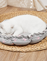cheap -Dog Cat Pets Cat Beds Dog Bed Mat Pet Sleeping Nest Footprint / Paw Pumpkin Shaped Portable Foldable Washable Dual-use Mat Nylon for Large Medium Small Dogs and Cats