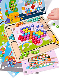 cheap -Montessori Toy Wooden Educational Toys for 3 4 5 Year Old Clip Bead Game Toddler Preschool Stacking Learning Toy Fine Motor Color Recognition Parent-Child Interaction Birthday Gift