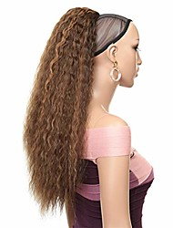 cheap -drawstring afro ponytail synthetic clip in hair extensions long kinky curly ponytail wrap around women's hairpiece 8-27 24inches
