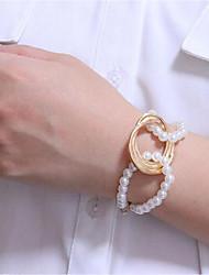 cheap -Women's Chain Bracelet Classic Fashion Stylish Classic Alloy Bracelet Jewelry Gold For Date Festival