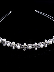 cheap -Wedding Bridal Alloy Headbands / Headdress / Headpiece with Imitation Pearl / Metal 1 Piece Wedding / Party / Evening Headpiece