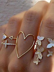 cheap -Multi Finger Ring Gold Alloy Cute 1 set Adjustable / Women's