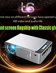 cheap -T6 Mini Projector LED Projector 2600 lm Android 7.1 WIFI Projector