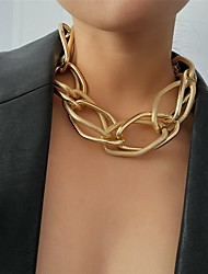 cheap -Women's Men's Choker Necklace Chain Necklace Fashion Alloy Gold Silver 43+10 cm Necklace Jewelry 1pc For Party Evening Street / Chains