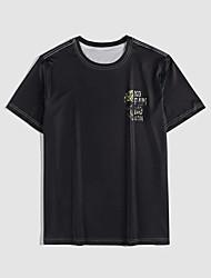 cheap -Men's Unisex T shirt Hot Stamping Skull Plus Size Print Short Sleeve Casual Tops 100% Cotton Basic Casual Fashion Black