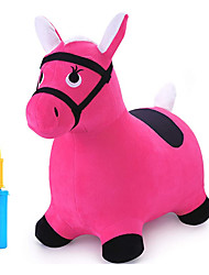 cheap -Bouncy Pals Pink Hopping Horse, Outdoors Ride on Bouncy Animal Play Toys, Inflatable Hopper Plush Covered with Pump, Activities Gift for 3, 4, 5 Age Year Old Kids Toddlers Boys Girls
