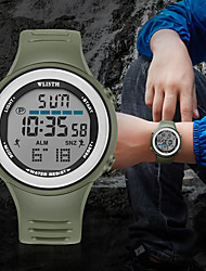 cheap -WLISTH Men's Digital Watch Digital Digital Sporty Outdoor Water Resistant / Waterproof Chronograph Luminous / One Year / Silicone