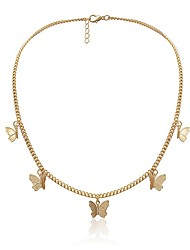 cheap -Women's Chains Necklace Butterfly Fashion Alloy Gold Silver 40 cm Necklace Jewelry 1pc For
