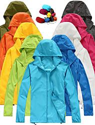 cheap -Men's Women's Waterproof Full Zip UPF 50+ Sun Protection Hoodie Jacket Long Sleeve Sun Shirt Hiking Outdoor Performance with Pockets Packable Lightweight Windbreaker Top Full Zipper Fishing Workout