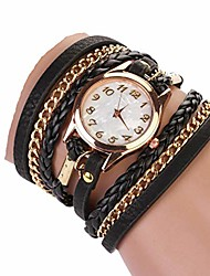 cheap -Women Retro Synthetic Leather Strap Watch Bracelet Wristwatch Wrist Watches