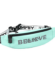 cheap -Unisex Bags PU Leather Fanny Pack Zipper Letter Daily Outdoor 2021 Noble Black Jade green Export blue